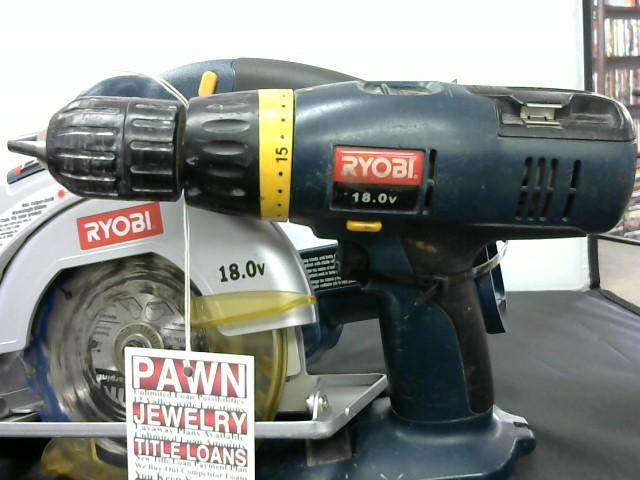 RYOBI Cordless Drill HP1802M