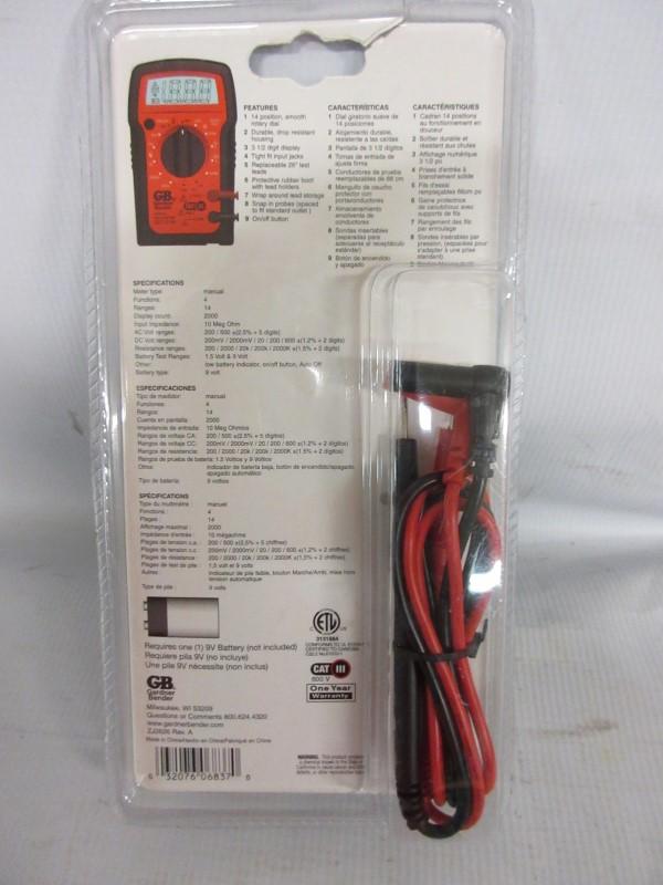 Gardner Bender Instruments Digital Multimeter GDT-3190