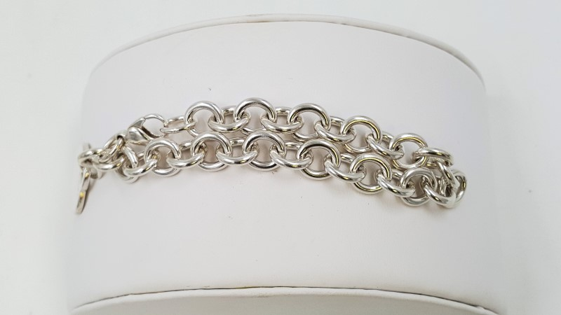 Tiffany & Co Silver Return to Heart Lobster Charm Bracelet 7.8""