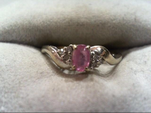 Lady's Diamond Fashion Ring 6 Diamonds .06 Carat T.W. 10K Yellow Gold 1.8g