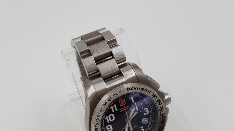 Men's Victorinox Swiss Army Stainless Steel Quartz 24786 As-Is