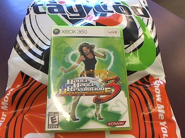 XBOX 360 DANCE DANCE UNIVERSE 3 WITH DANCE PAD