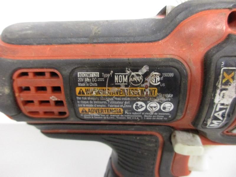 BLACK & DECKER BDCDMT120 20V CORDLESS DRILL