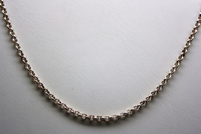 "16"" FASHION STYLE CHAIN SILVER"