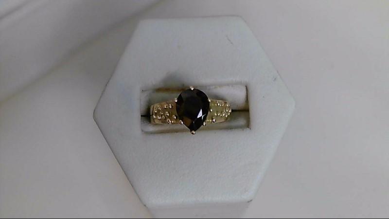 Almandite Garnet Lady's Stone Ring 18K Yellow Gold 5.8g