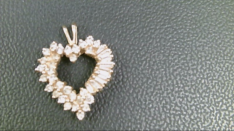 Gold-Multi-Diamond Pendant 40 Diamonds 1.80 Carat T.W. 10K Yellow Gold 3.5g