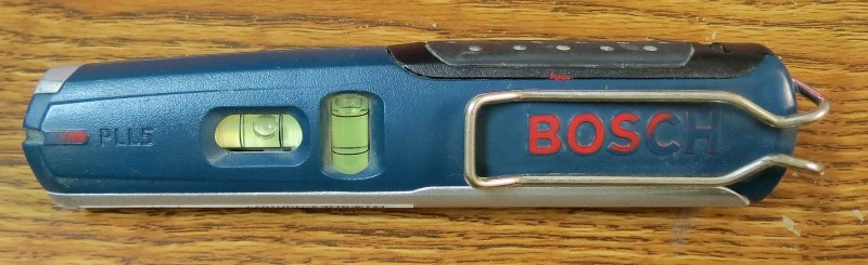 "BOSCH PLL5 Laser Spirit Level - Clip & Magnetic Mount - 5-1/2"" Long"