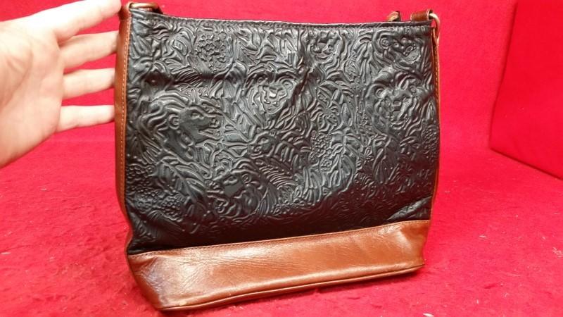 Women's Black / Brown Leather Purse / Handbag