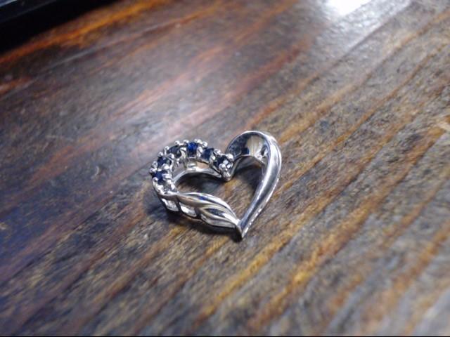 Blue Stone Silver-Stone Pendant 925 Silver 1.7g