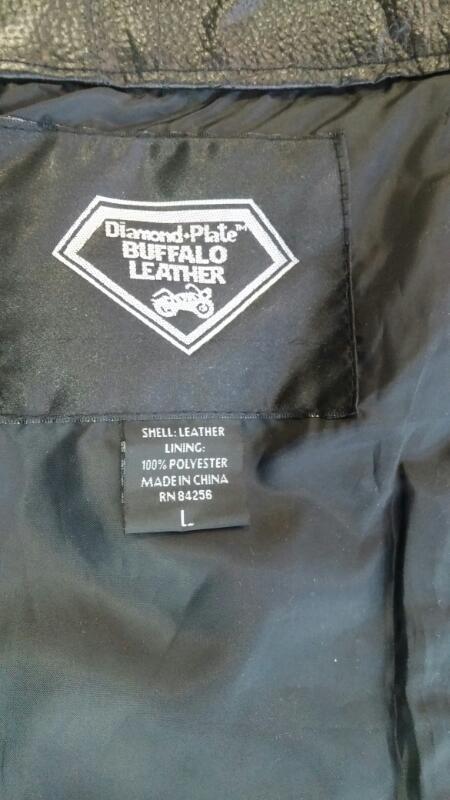 BUFFALO LEATHER Coat/Jacket DIAMOND PLATE XL CHAPS