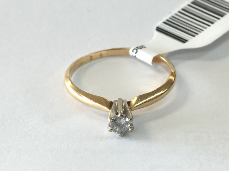 .20CT_ROUND_SOLITAIRE Lady's Diamond Solitaire Ring ENGAGEMENT_RNG .20 CT.