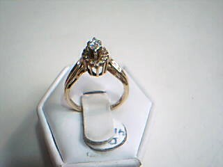 Lady's Diamond Engagement Ring 15 Diamonds .47 Carat T.W. 14K White Gold 3g