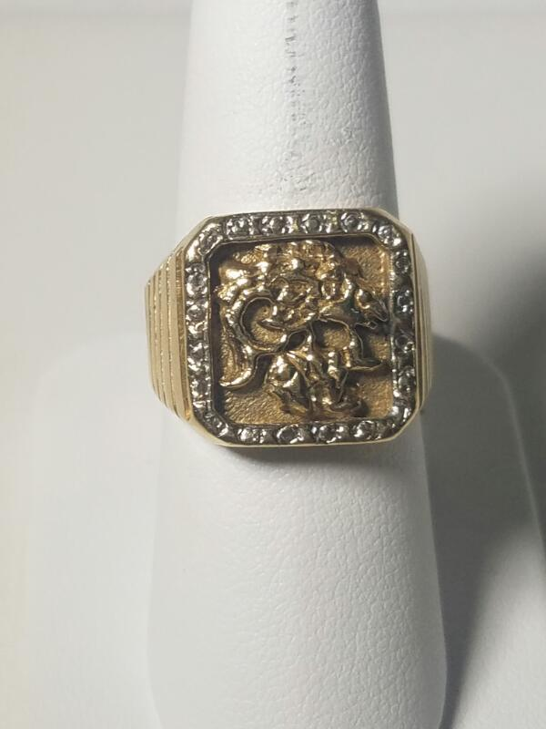 Gent's Gold Ring 10K Yellow Gold 6.5dwt Size:10