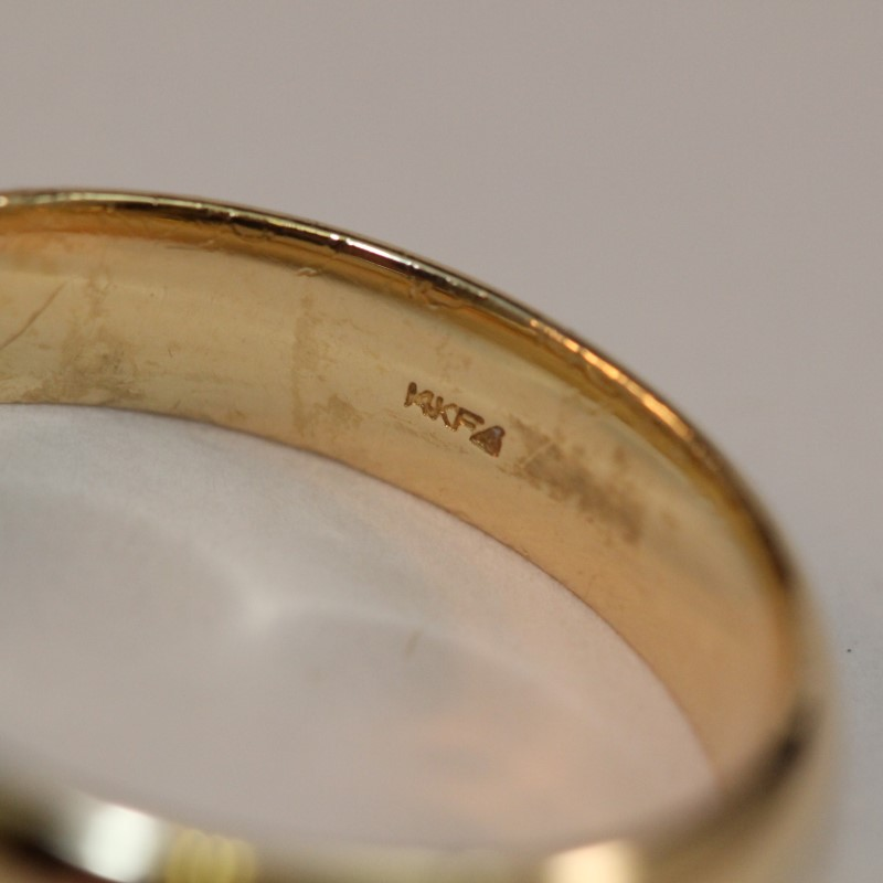 14K Yellow Gold Men's Wedding Band Ring Size 12.5