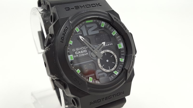 Men's Casio G-Shock 5255 Green & Black Rubber Band