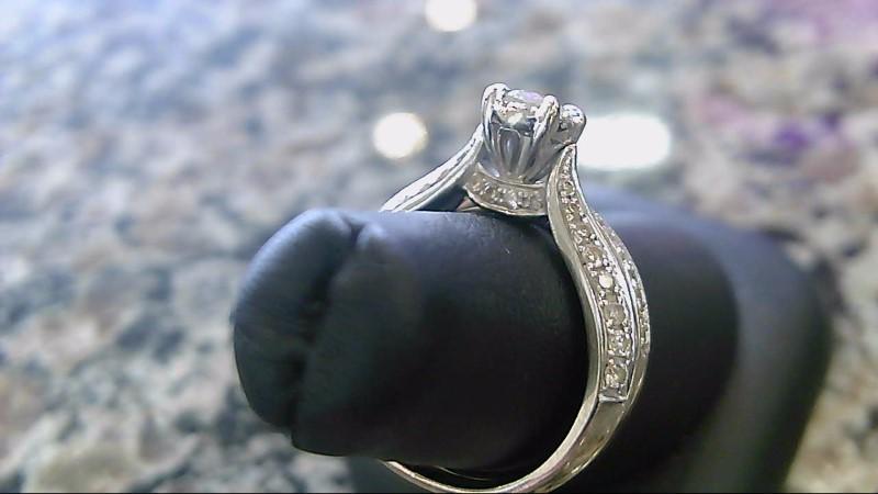 Lady's Diamond Wedding Set 59 Diamonds .78 Carat T.W. 14K White Gold 6g