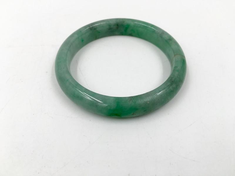 Green Jade Ladies Bangle Bracelet 51mm Width