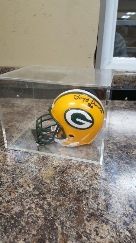 GB Packers Signed Ron Kramer & Boyd Dowler Micro Mini Helmet