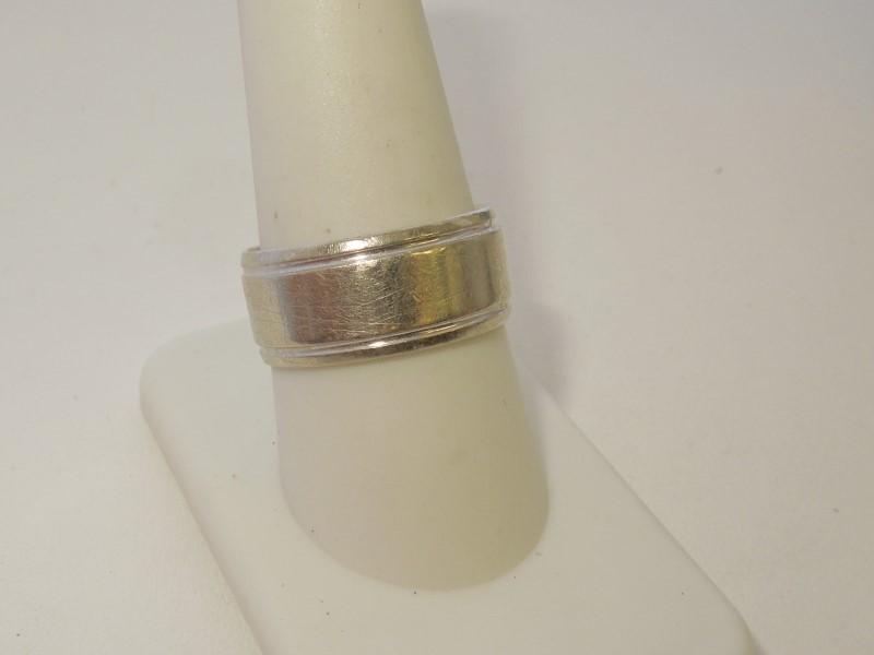 Gent's Gold Wedding Band 10K White Gold 7.9g Size:9.5