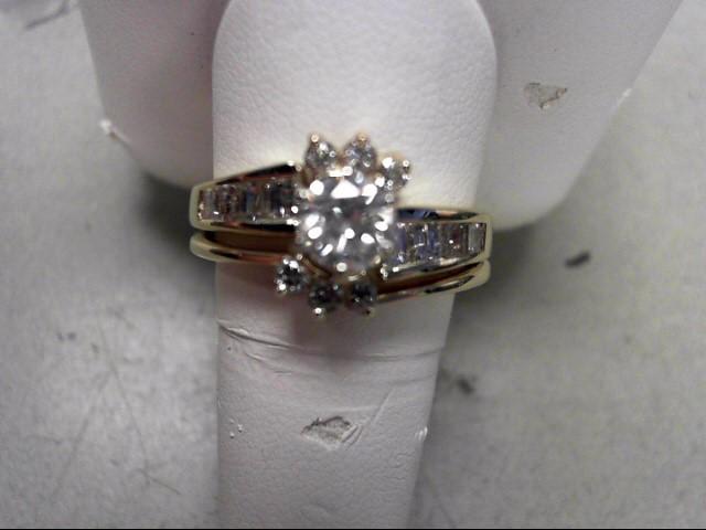 Lady's Diamond Wedding Set 15 Diamonds .80 Carat T.W. 14K Yellow Gold 5.38g