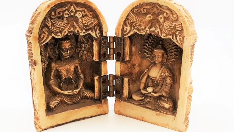 Plastic Open Close Religious Buddha Statue Dome Shape