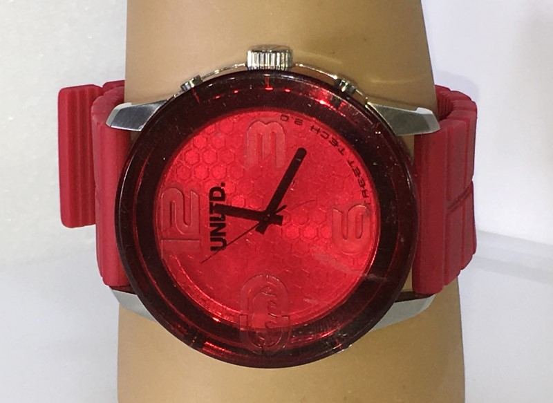 UNLTD by Marc Ecko The Fuse Red Plastic Watch E11539G1