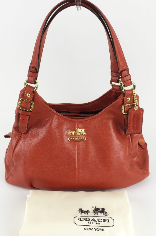 COACH MADISON MAGGIE LEATHER HOBO SHOULDER BAG 16503