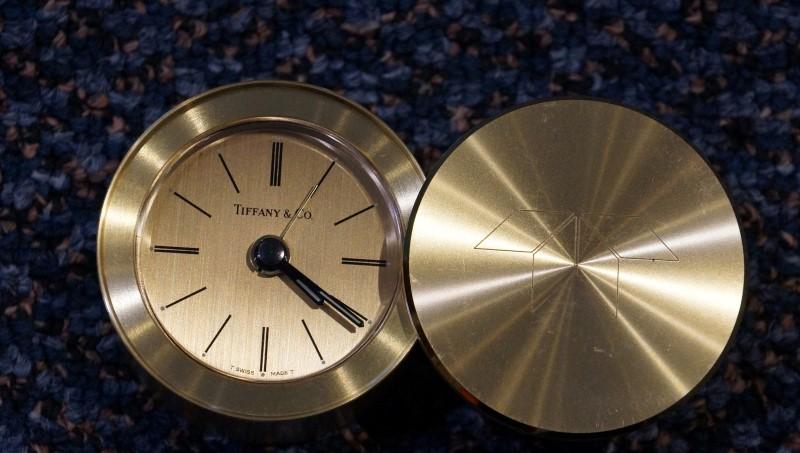 TIFFANY & CO Clock TRAVEL ALARM CLOCK