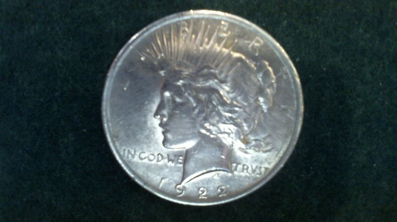 UNITED STATES Silver Coin 1922 PEACE DOLLAR
