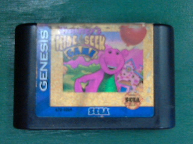 SEGA Sega Game BARNEY'S HIDE SEEK GAME