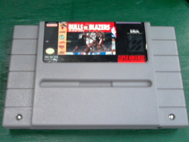 NINTENDO Nintendo SNES Game BULLS VS BLAZERS SNES