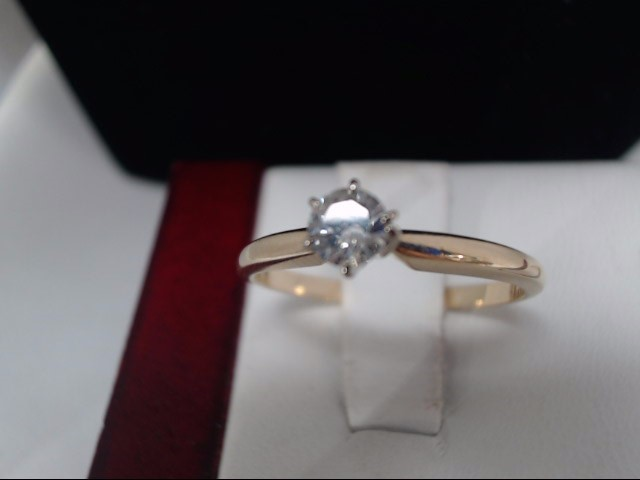 Lady's Diamond Solitaire Ring .15 CT. 10K Yellow Gold 1.5g