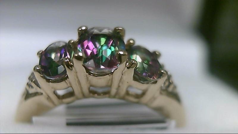 mystic Topaz Lady's Stone & Diamond Ring 6 Diamonds .06 Carat T.W.