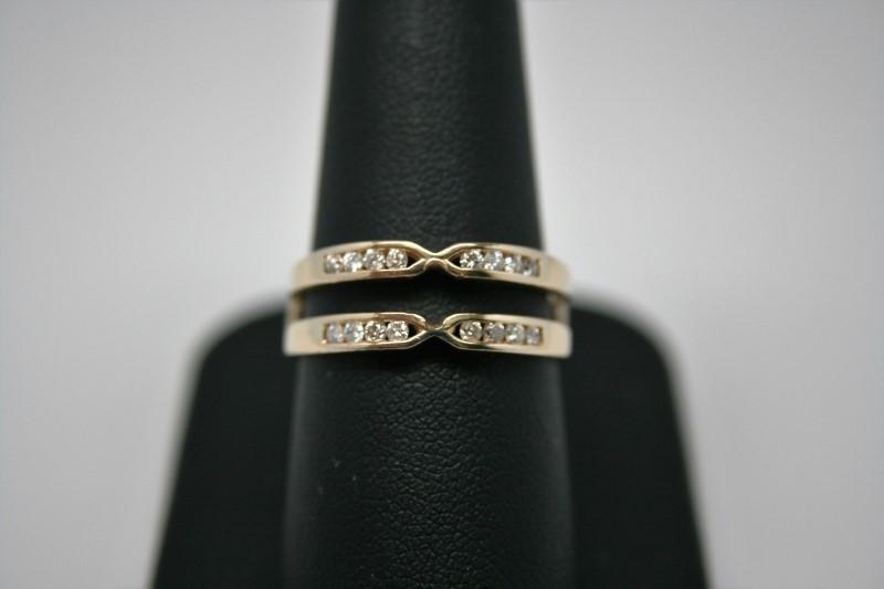 LADY'S FASHION DIAMOND RING GUARD 14K YELLOW GOLD
