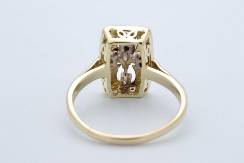 ESTATE DIAMOND CROSS RING SOLID 14K GOLD CHRIST RELIGIOUS JESUS 6.75