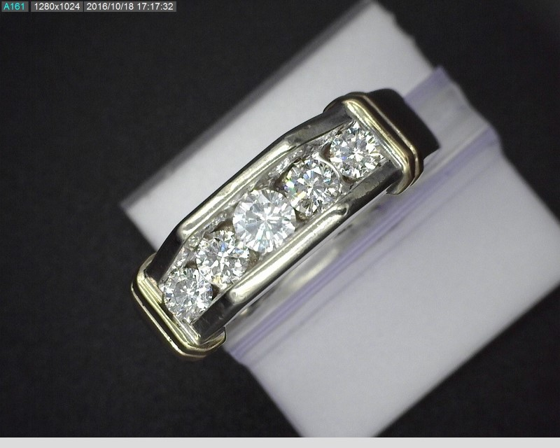 MEN'S TWO TONE DIAMOND RING APX.69CTW 10.3G SZ10.25