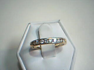 Lady's Gold-Diamond Anniversary Ring 10 Diamonds .50 Carat T.W. 14K Yellow Gold