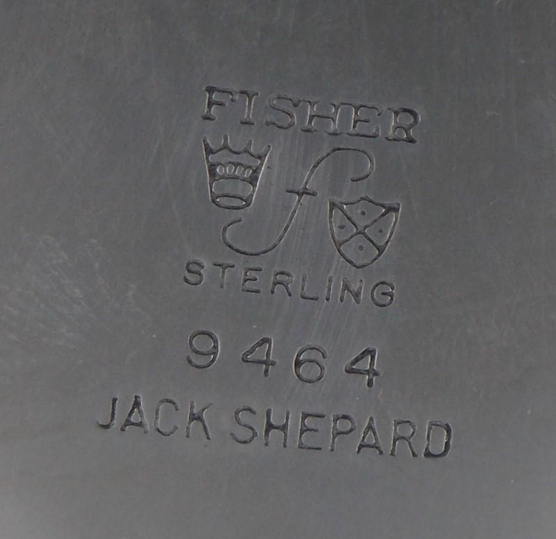 JACK SHEPARD 9464 STERLING SILVER CREAMER AND SUGAR BOWL