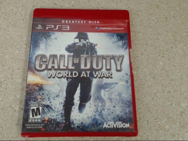 CALL OF DUTY WORLD AT WAR - PLAYSTATION 3 GAME