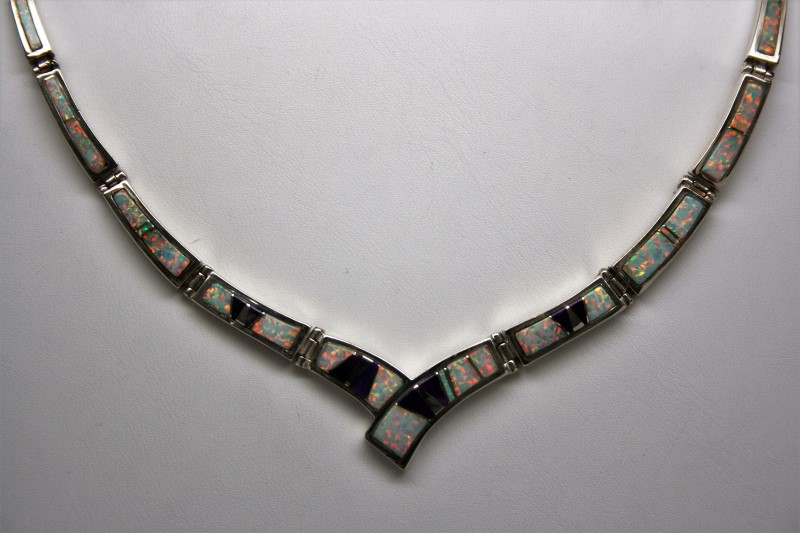 OPAL SILVER NECKLACE