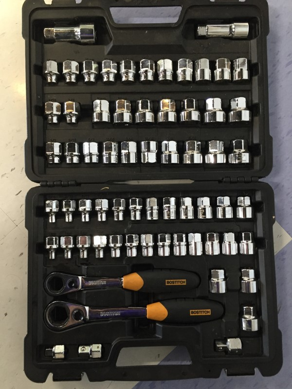 BOSTITCH SOCKETS 65 PC SOCKET SET, GOOD CONDITION.
