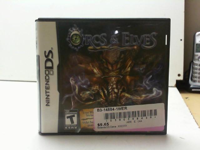 NINTENDO Nintendo DS Game ORCS & ELVES