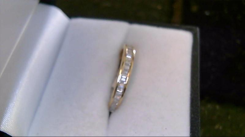 14K Yellow Gold Baguette Diamond Wedding Band