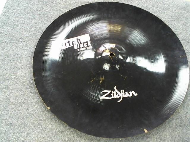"""ZILDJIAN Cymbal PITCH BLACK 18"""" CHINA"""