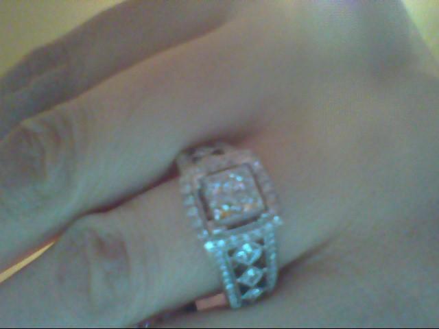 Lady's Diamond Fashion Ring 74 Diamonds .84 Carat T.W. 14K White Gold 6.8g