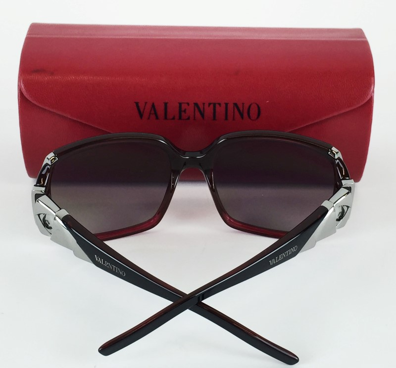 VALENTINO 5738 BLACK RASBERRY SUNGLASSES