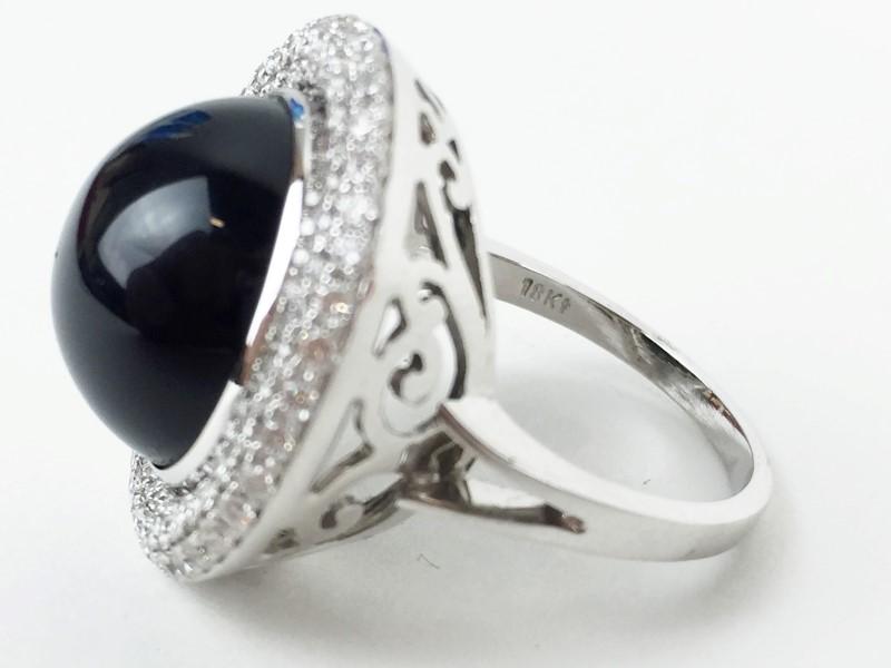 Sapphire & Diamond Ring 100 Diamonds 1.00 Carat T.W.