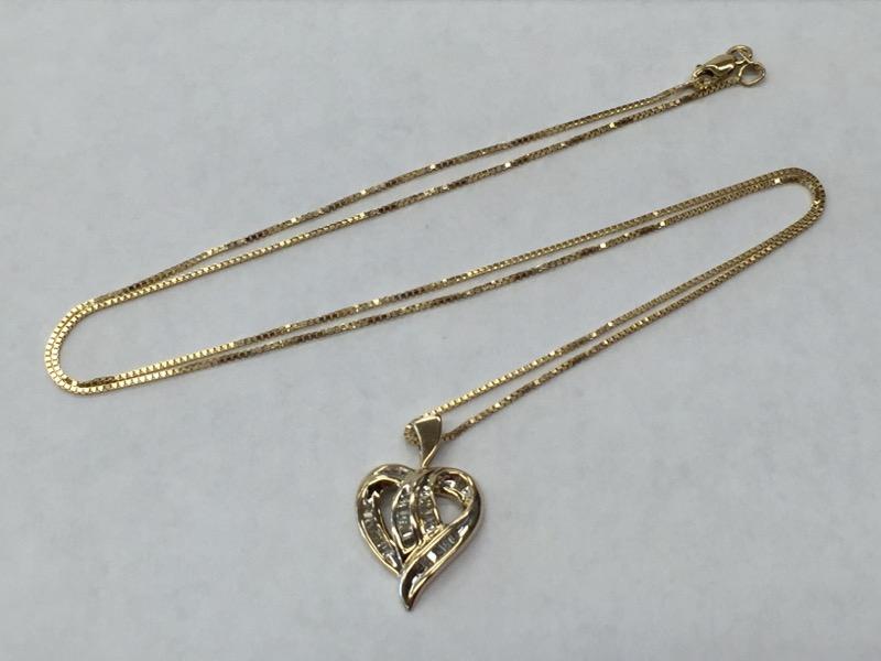 "20.5"" Diamond Necklace 30 Diamonds .30 Carat T.W. 10K Yellow Gold"