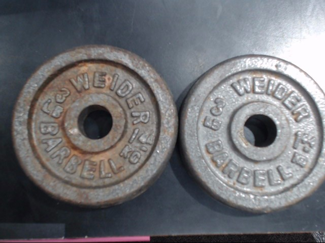"""2 3"""" FREE WEIGHTS"""
