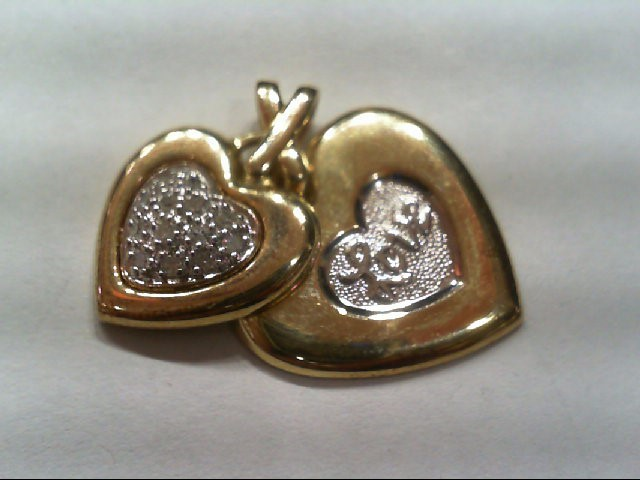 Gold-Multi-Diamond Pendant 13 Diamonds .13 Carat T.W. 10K Yellow Gold 2.4g